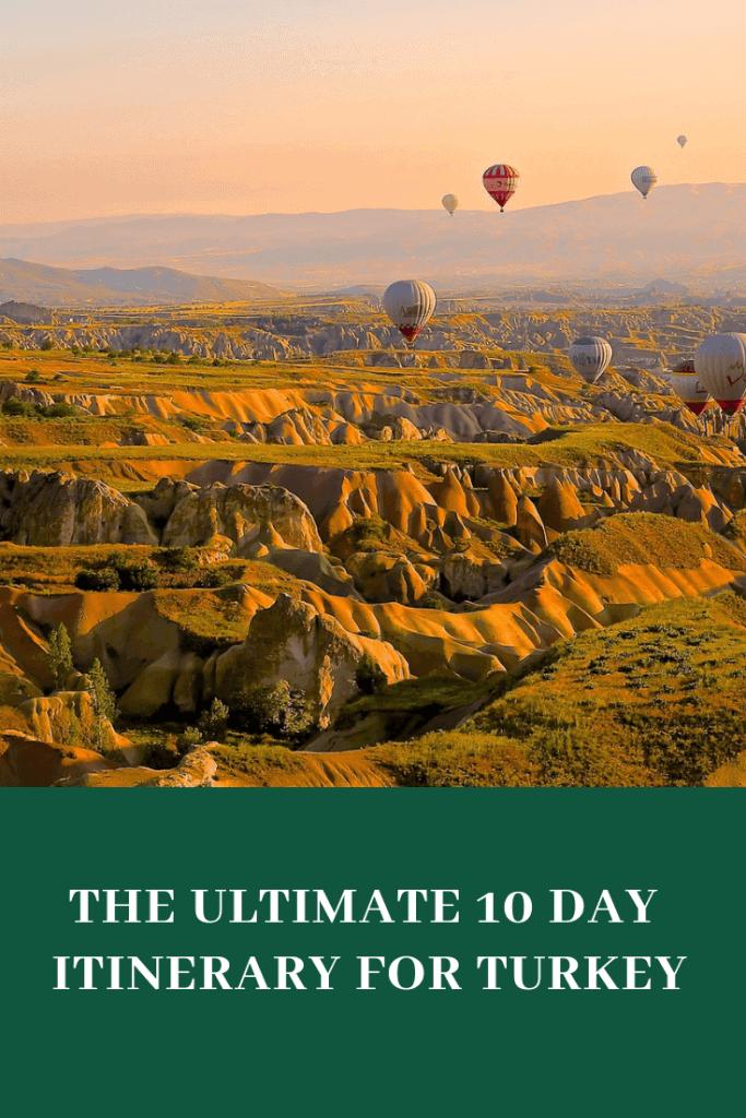 10 days turkey travel itinerary #Turkey #traveltoturkey