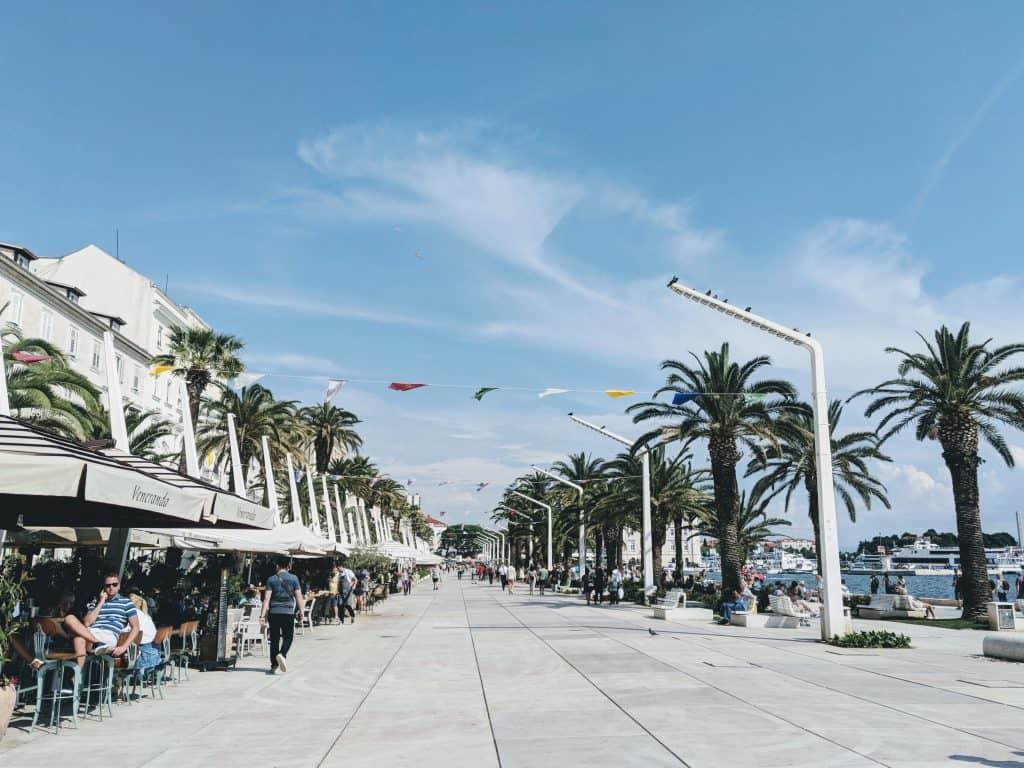 Split Croatia itinerary promenade sea
