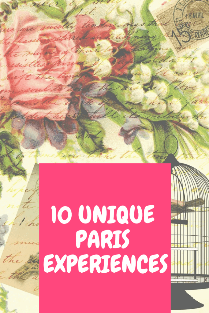 unique Paris experiences