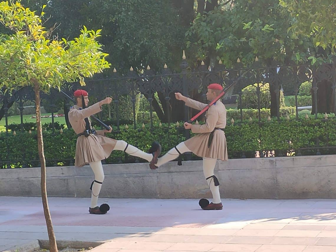 48 hours in Athens Changing of Guard
