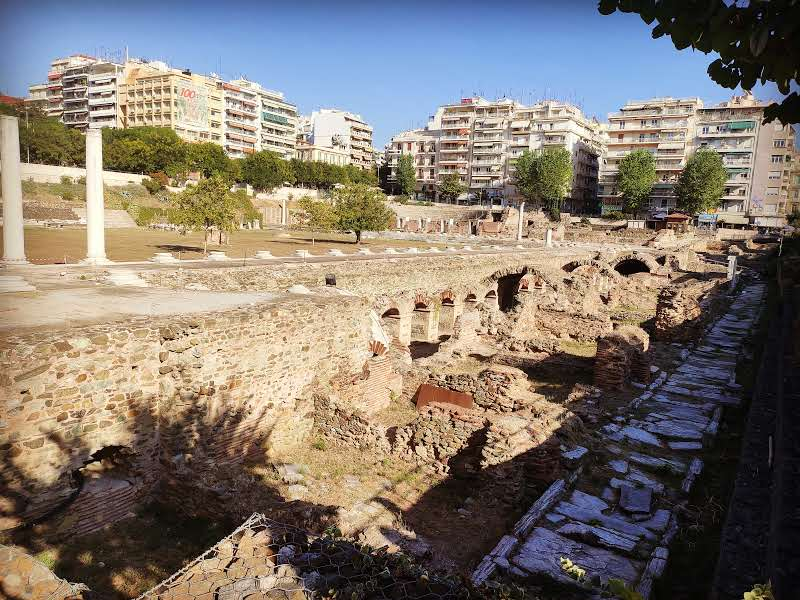 24 hours in Thessaloniki Roman Agora