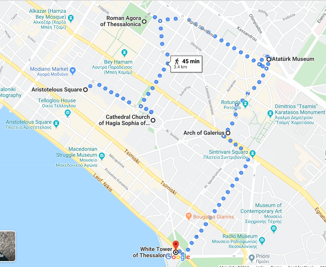 24 hours in Thessaloniki DIY walking map