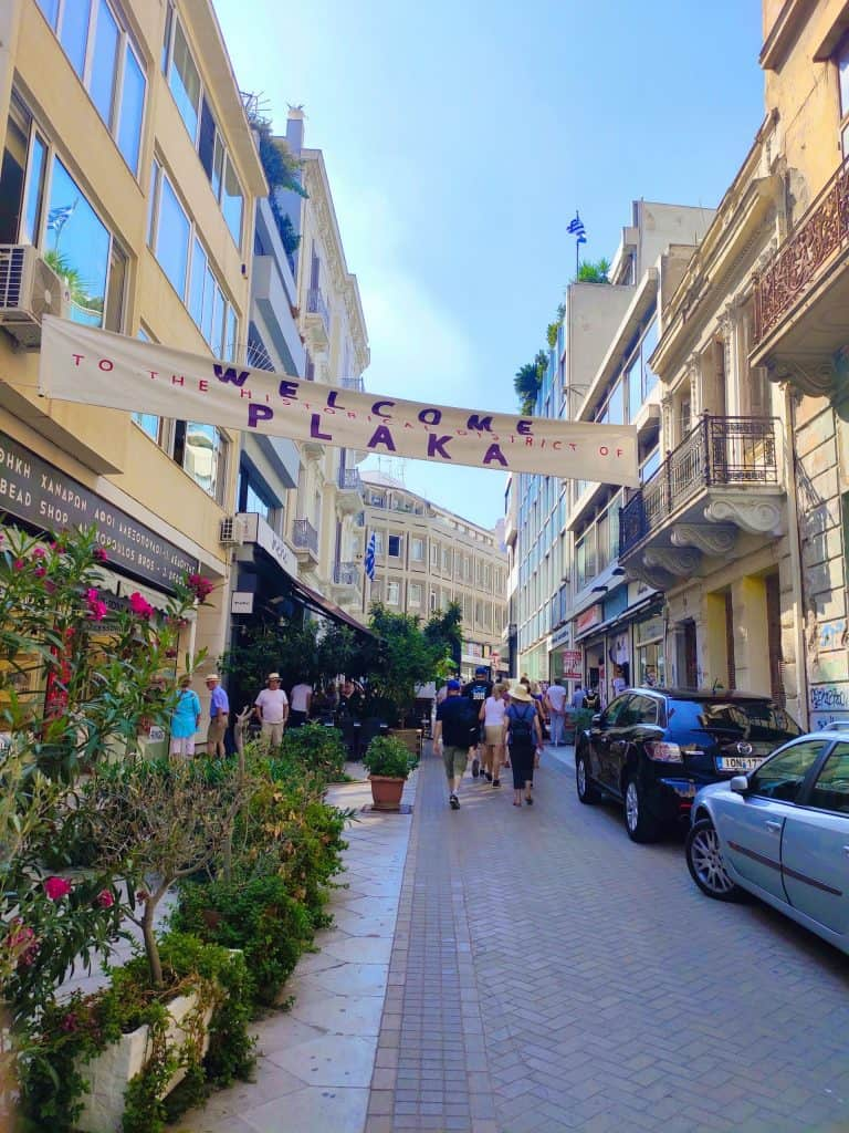 48 hours in Athens Plaka street