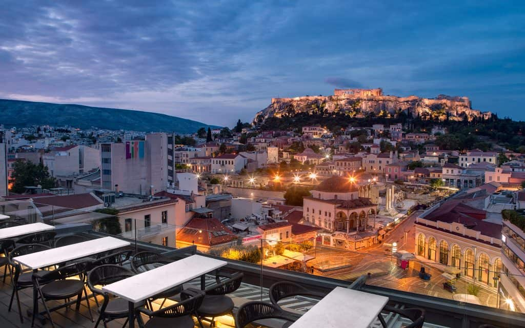 48 hours in Athens Night view
