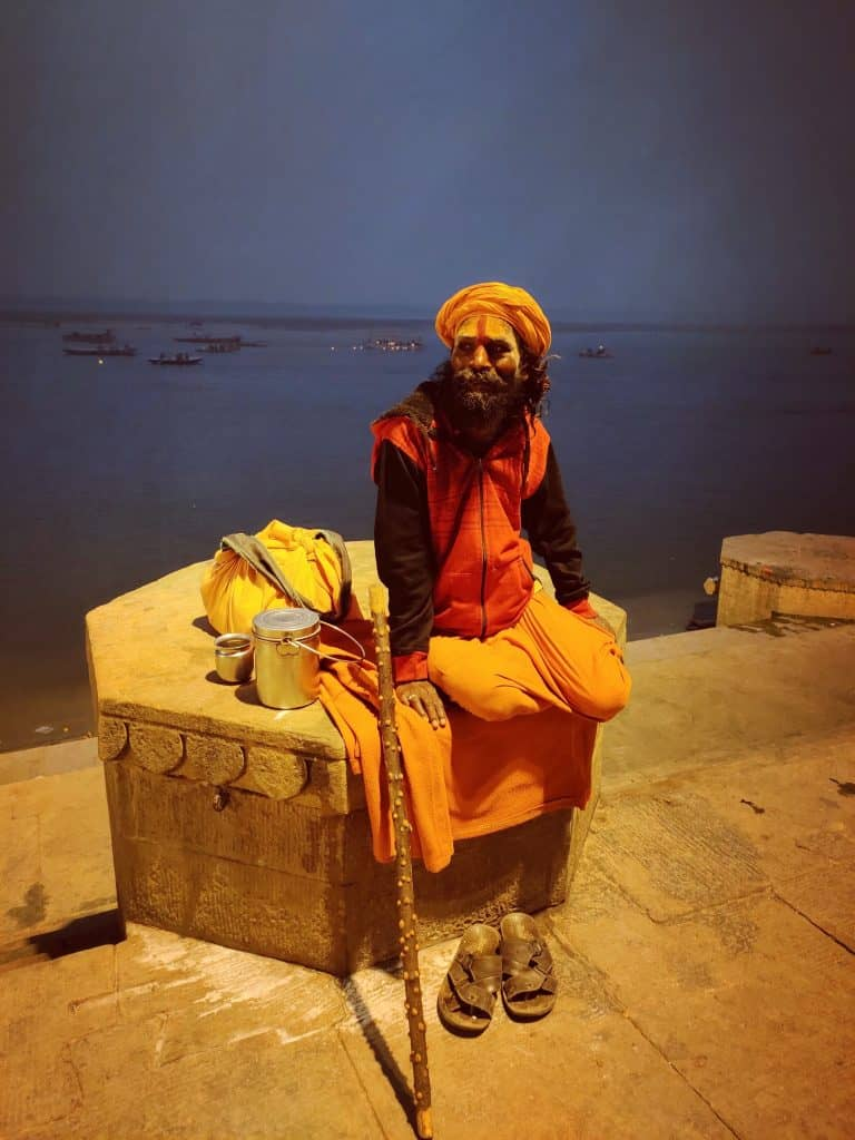 48 hours in Varanasi - A saddhu