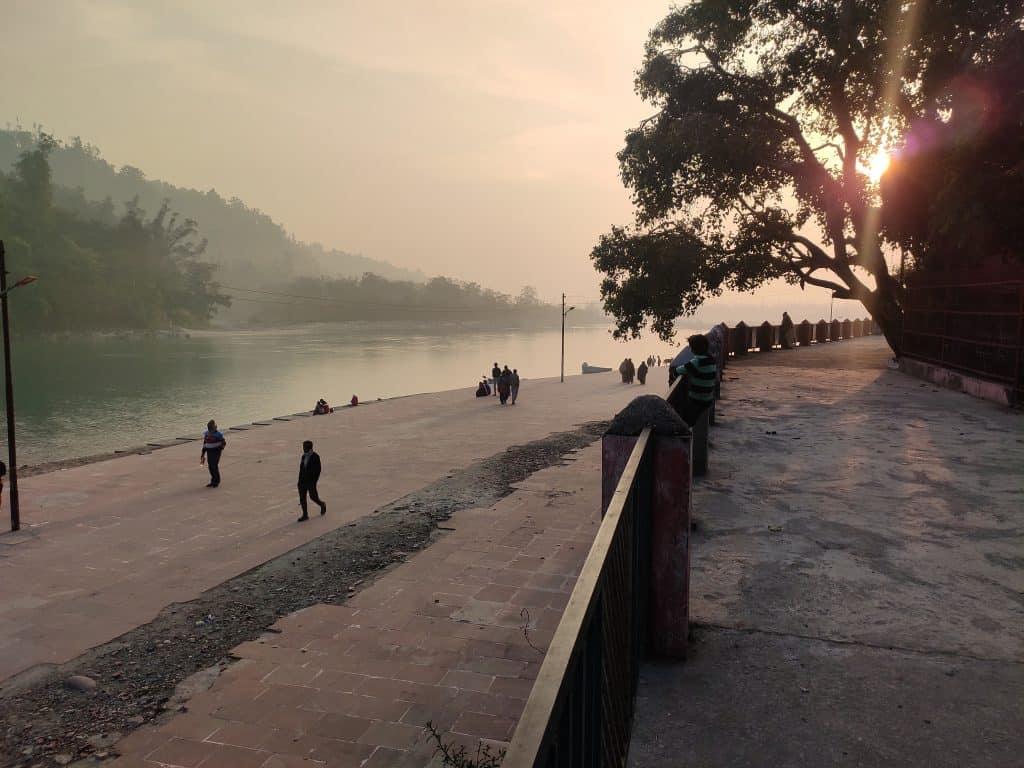 Triveni Ghat at dusk