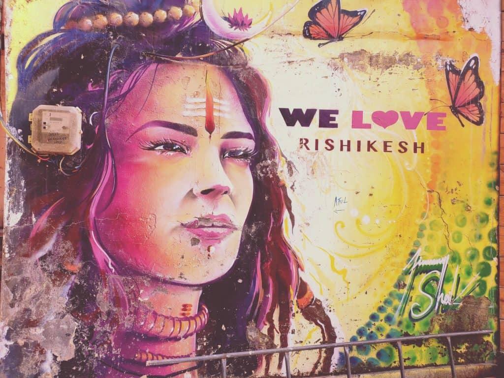 Rishikesh city artwork