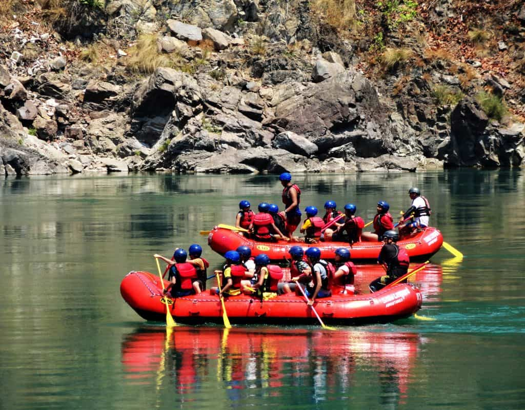 Rafting at the Ganges